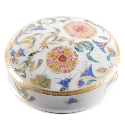 "Manufacture De Monaco ""Primavera"" Limited Edition Gilt Porcelain Box"