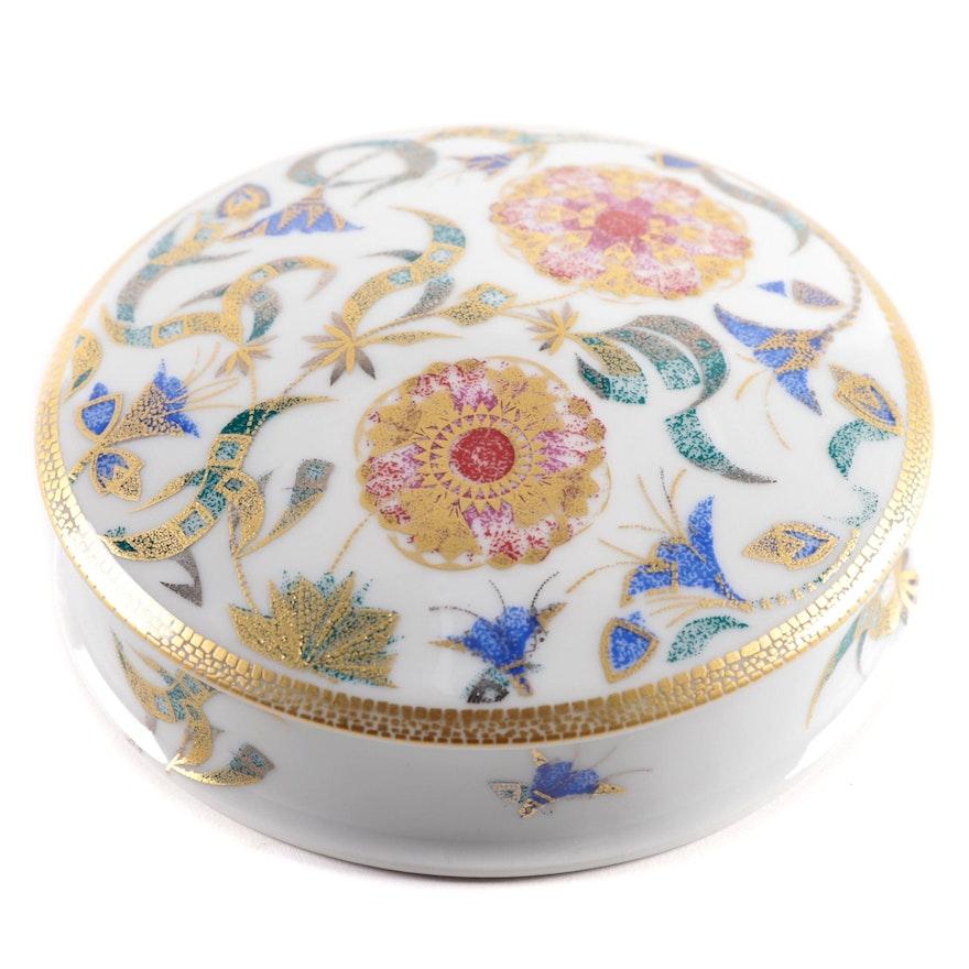 """Manufacture De Monaco """"Primavera"""" Limited Edition Gilt Porcelain Box"""