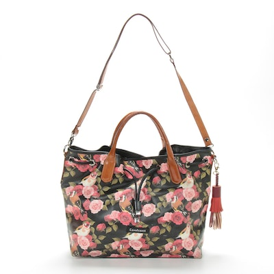 Cavalcanti Floral Printed Leather Purse