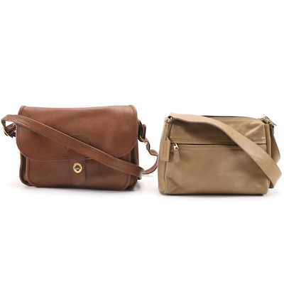 Coach Glove-Tanned Leather Shoulder Bags, Vintage
