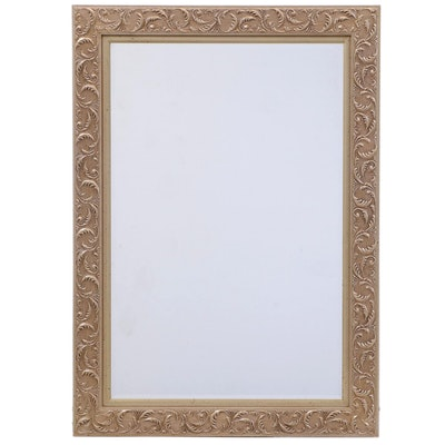Silverwood Products Gilt-Decorated and Beveled Glass Mirror, Contemporary