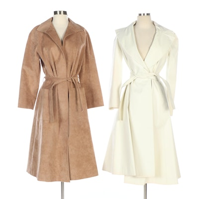 Halston-Three and Samuel Robert by Peter Hatsi-Androu Wrap Coats, Vintage