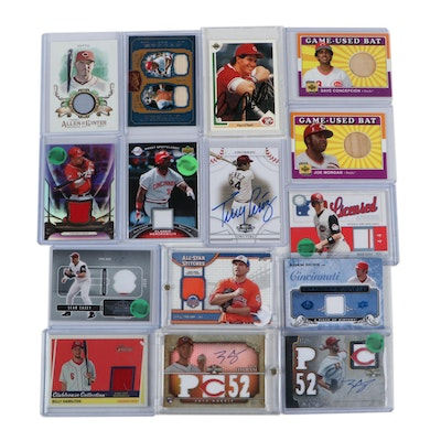 Cincinnati Reds Certified Autograph, Hand-Signed, and Relic Cards