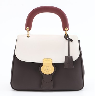Burberry DK88 Two-Way Top Handle Bag in Tri-Tone Leather