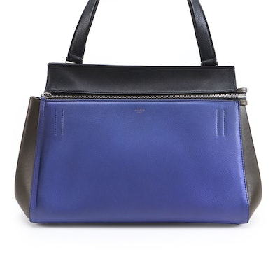 Céline Small Edge Bag in Tri-Color Leather
