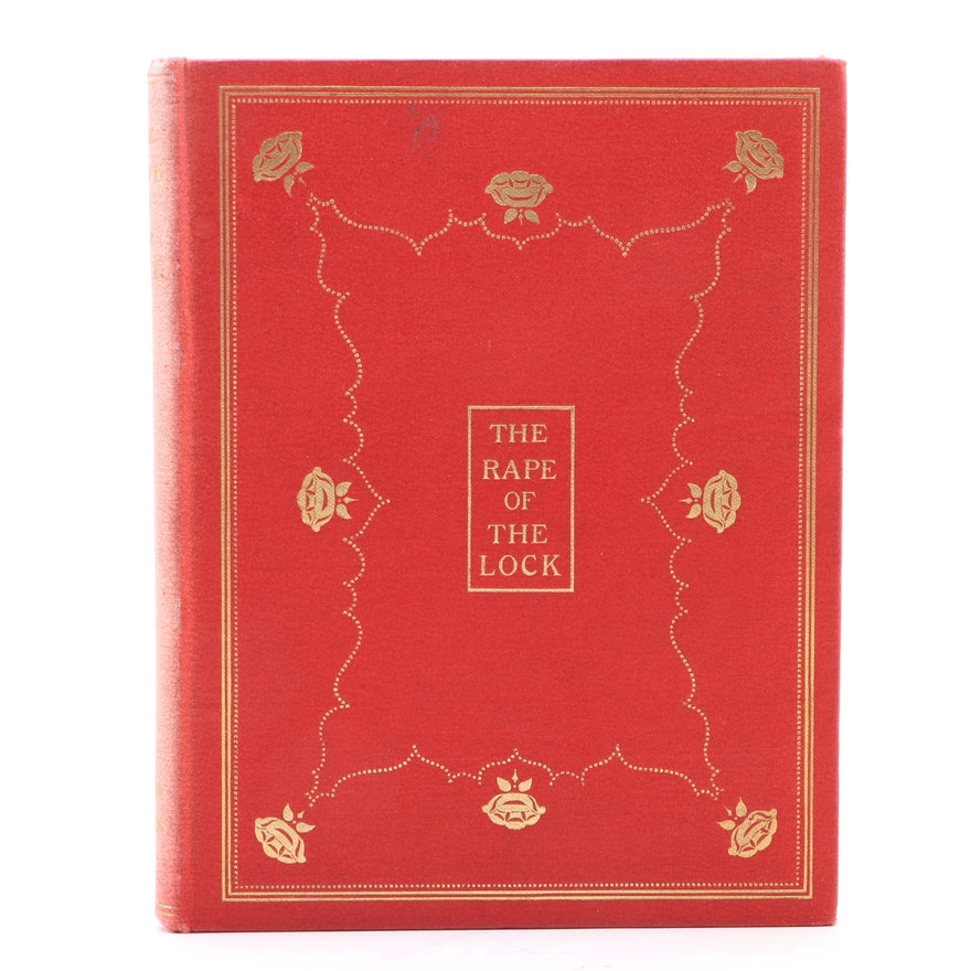 """Illustrated Limited Edition """"The Rape of the Lock"""" by Alexander Pope, 1897"""