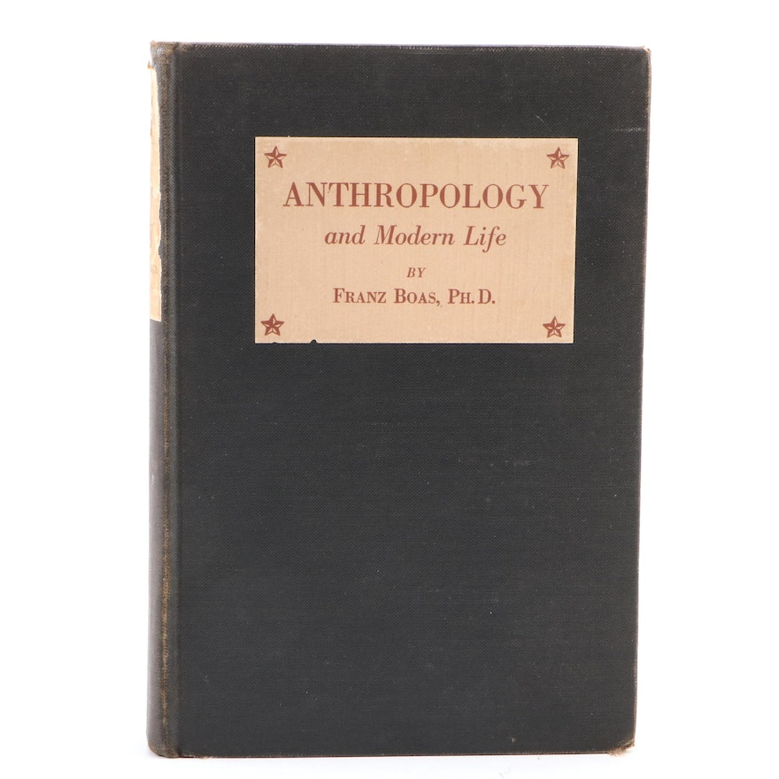 """First Edition """"Anthropology and Modern Life"""" by Franz Boas, 1928"""