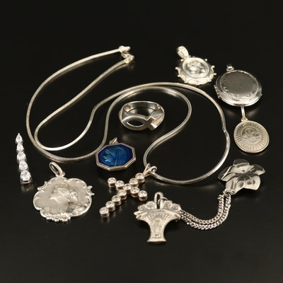 Jewelry Featuring Sterling and Evangelical Pieces