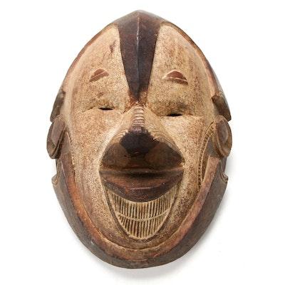 Igbo Style Carved Wood Mask, Nigeria