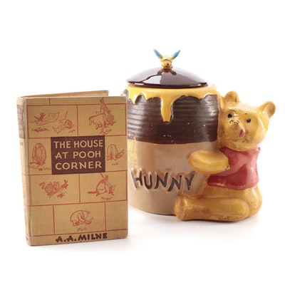"""The House at Pooh Corner"" by A. A. Milne and Ceramic Winnie the Pooh Cookie Jar"