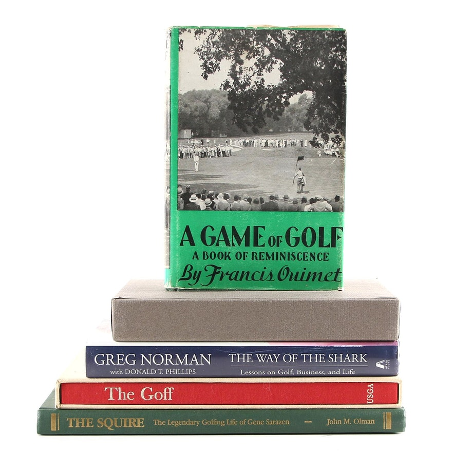 "Signed ""The Squire"", ""The Way of the Shark"" and Other Golf Books"