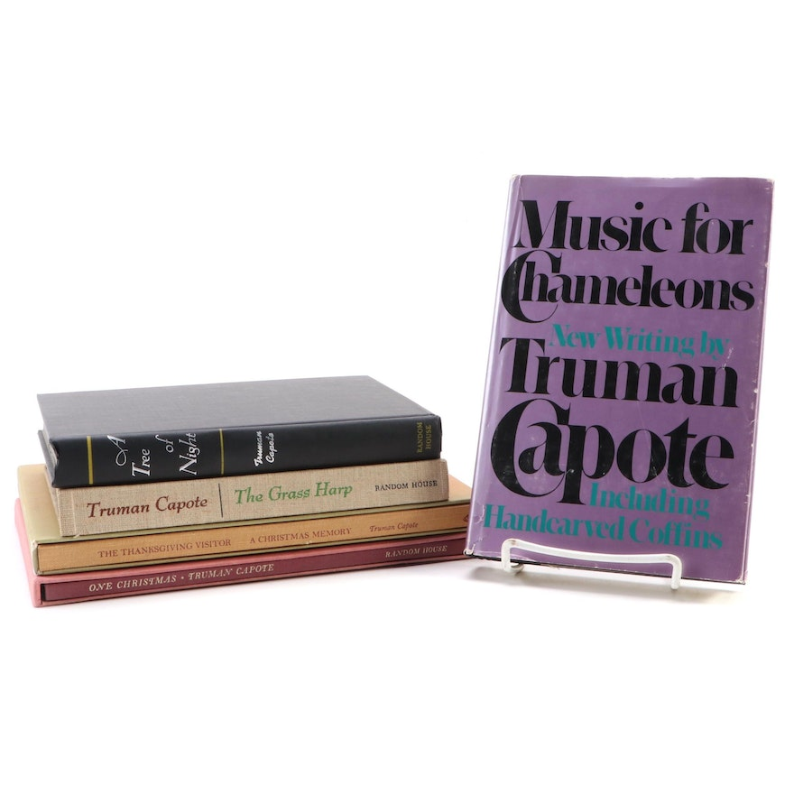 Truman Capote Books Including First Editions, Mid to Late 20th Century