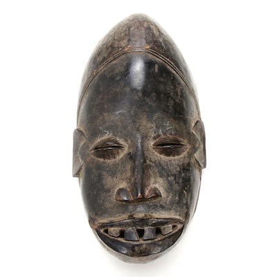 Dan Inspired Hand-Carved Wood Mask, West Africa