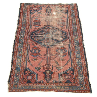 2'8 x 4'8 Hand-Knotted Persian Malayer Rug, 1920s