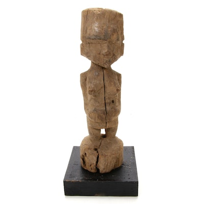 African Hand-Carved Wood Maternity Figure