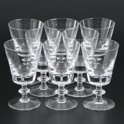 "Val St. Lambert ""State Plain"" Crystal Water Goblets, Mid-Late 20th Century"