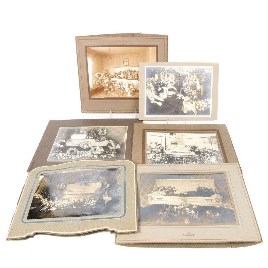 Post Mortem Silver Prints with Elaborate Floral Displays