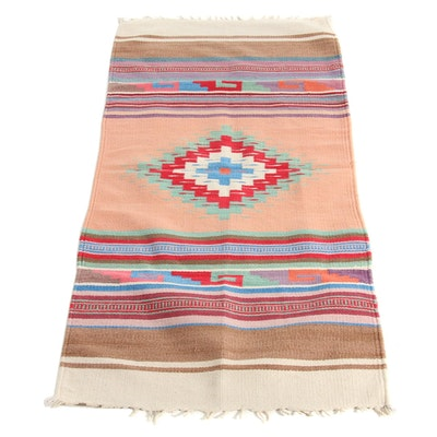 2'5 x 5 Handwoven Southwestern Rug, 1970s