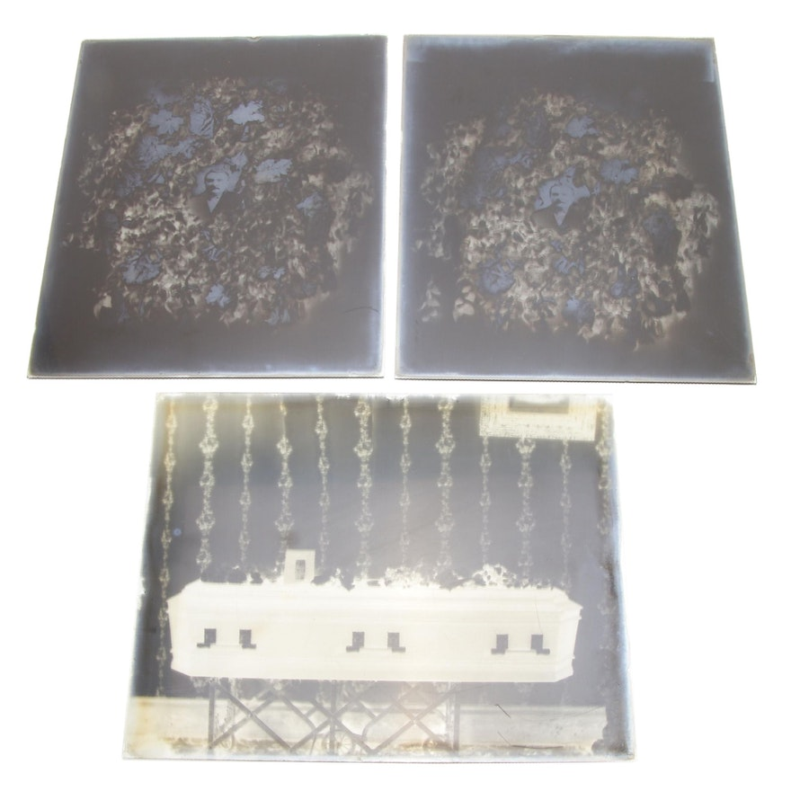 Funeral Glass Plate Photograph Negatives