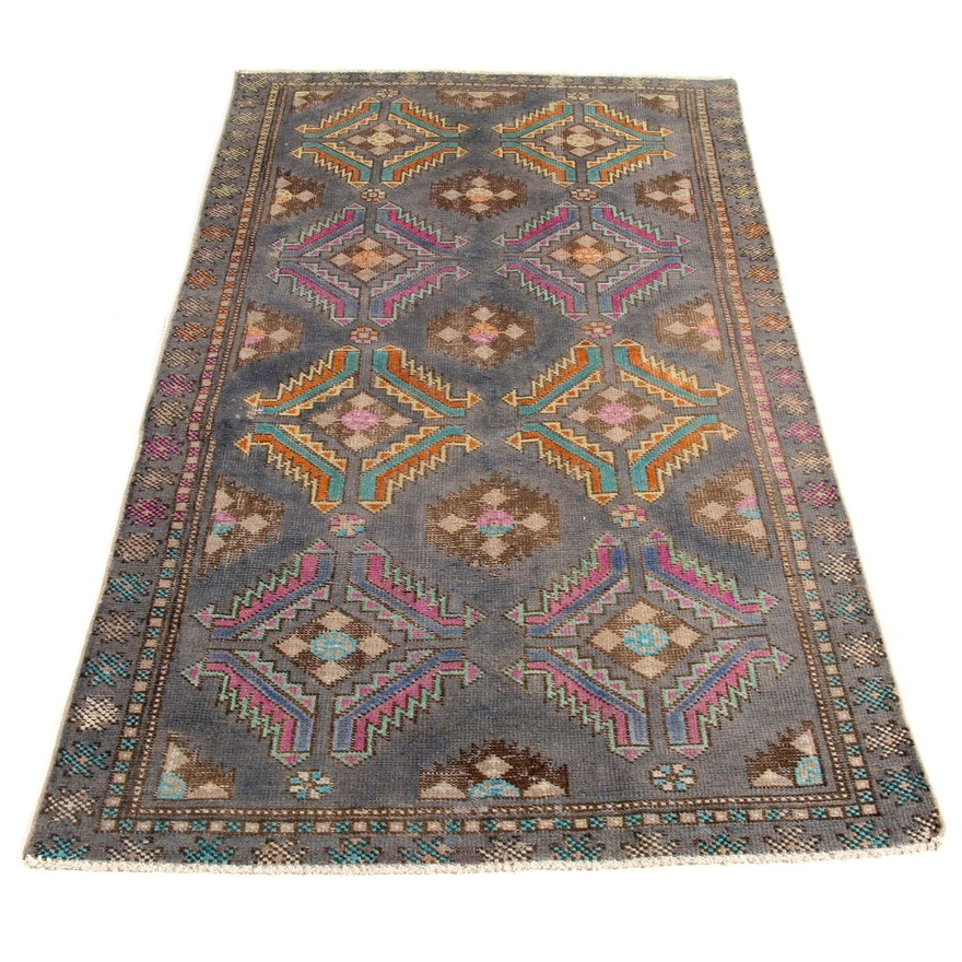 3'8 x 6'4 Hand-Knotted Northwest Persian Rug, 1960s