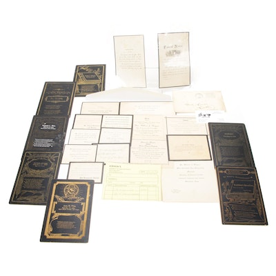 Funeral Cards and Death Announcements, Antique