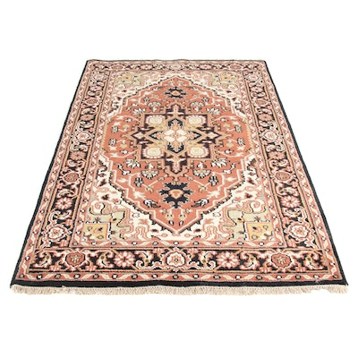 5' x 8'4 Hand-Knotted Indo Persian Heriz Serapi Rug, 2010s