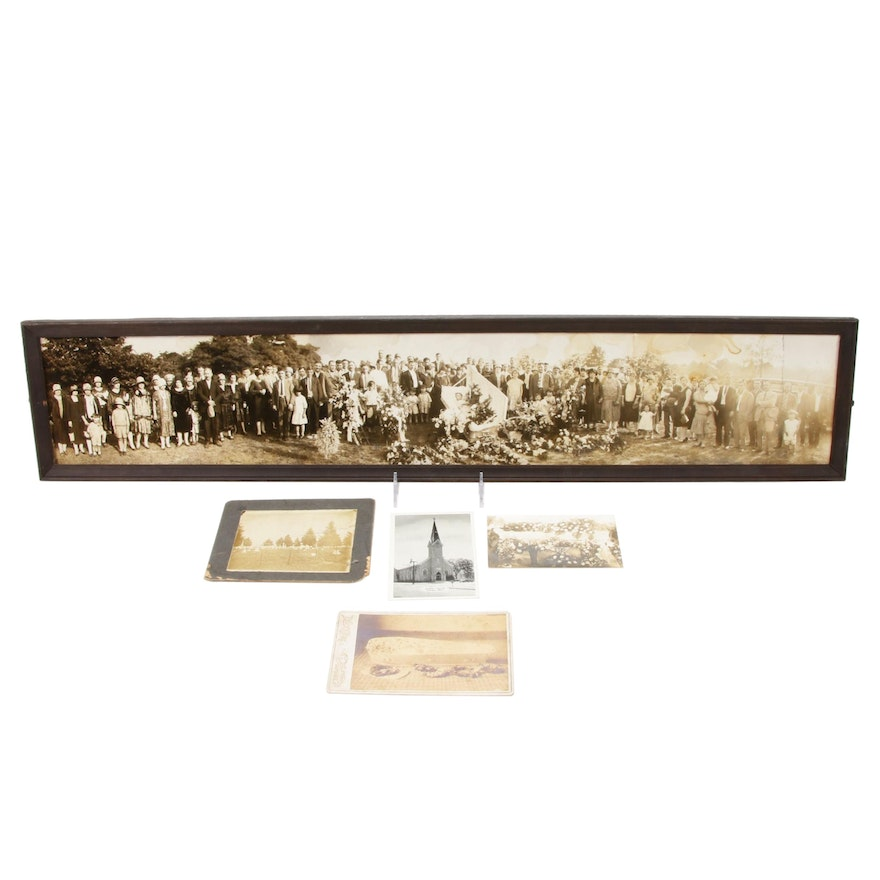 Post Mortem Cemetery Panoramic Photograph with Other Funerary Images