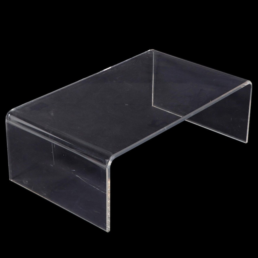 Modernist Lucite Waterfall Coffee Table, Mid to Late 20th Century