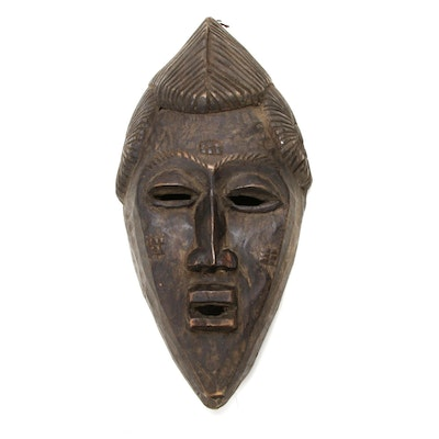 West African Style Carved Wood Mask