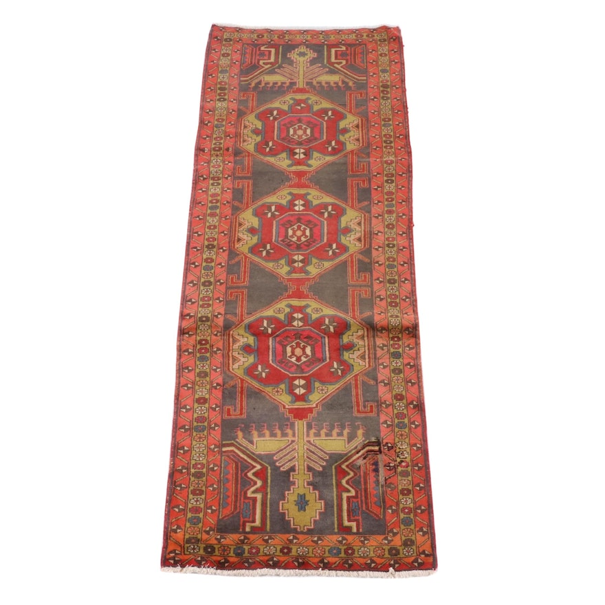 3'4 x 10'2 Hand-Knotted Persian Wool Long Rug