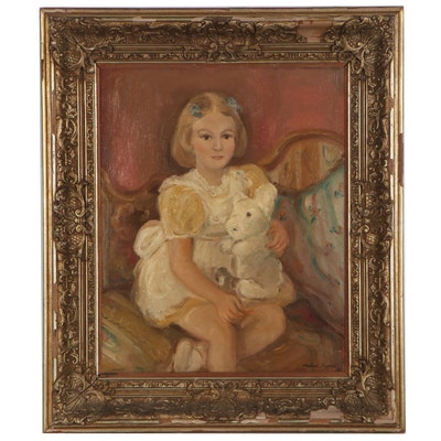 Oil Painting of a Young Girl, 1947
