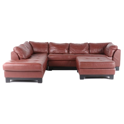 "Legacy Leather ""Collezione Divani"" by Giuliano Giusti Leather Sectional Seating"