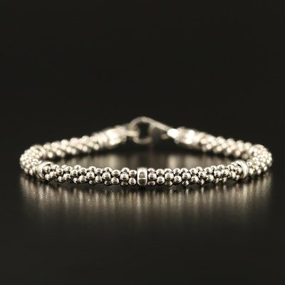 "Lagos ""Signature Caviar"" Sterling Silver Beaded Bracelet"