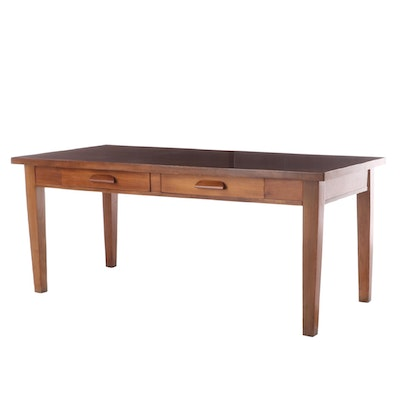 American Furniture Company Walnut Desk, Mid 20th Century
