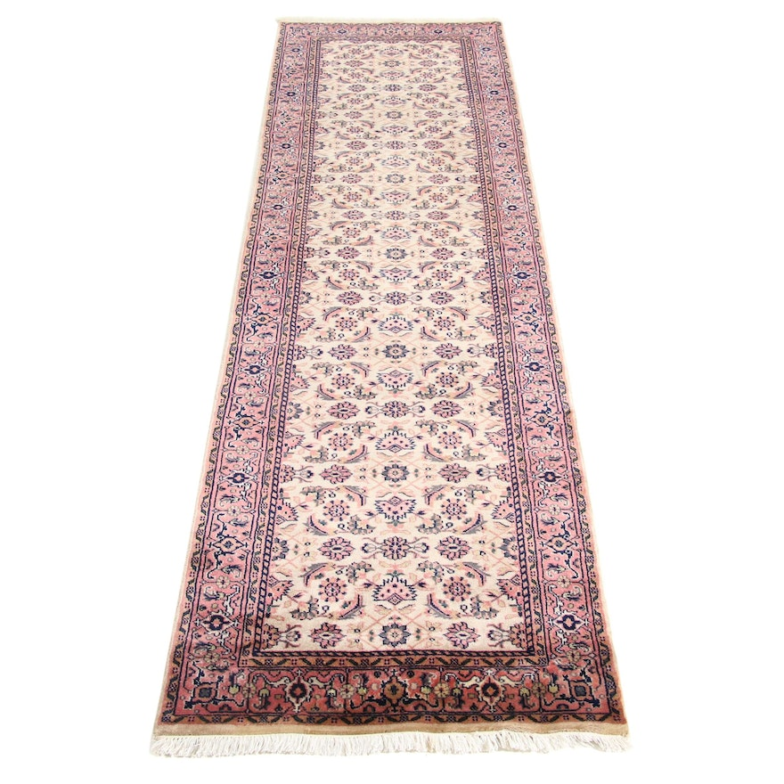 2'7 x 10'2 Hand-Knotted Indo Persian Tabriz Runner, 2000s