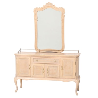 Henredon French Provincial Style Buffet with Mirror, Late 20th Century