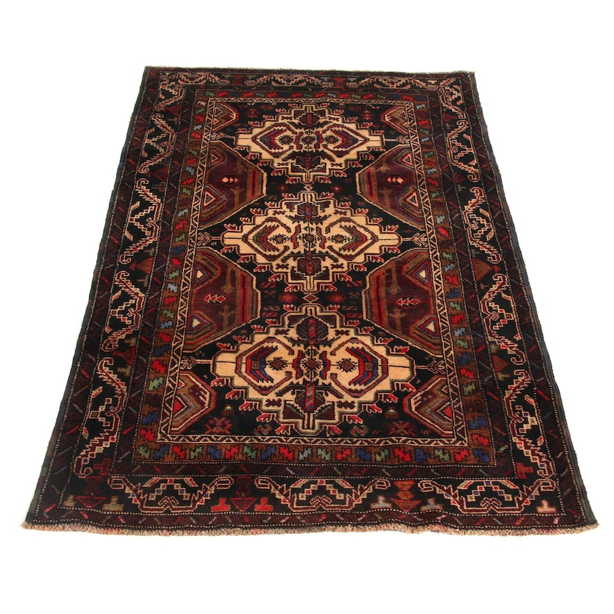 3'6 x 5'10 Hand-Knotted Persian Balouch Rug, 2000s