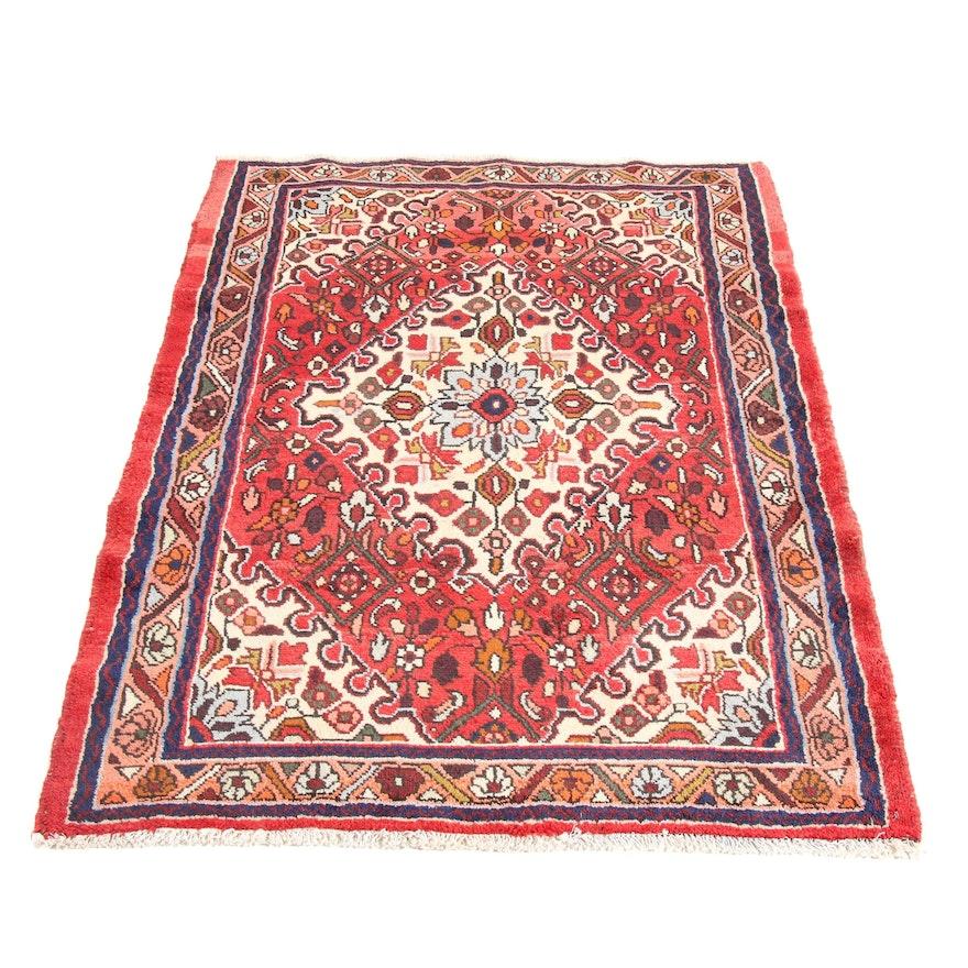 3'6 x 5'1 Hand-Knotted Persian Zanjan Rug, 1970s