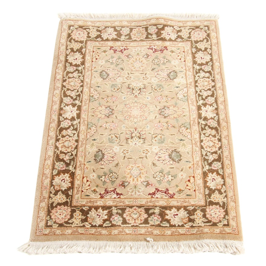2' x 3'4 Hand-Knotted Indo Persian Tabriz Rug, 2000s