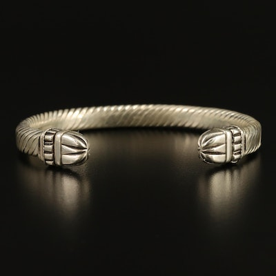 Sterling Silver Cable Cuff