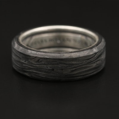 David Yurman Forged Carbon and Sterling Band