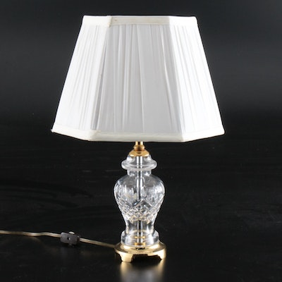 Blown Glass and Brass Table Lamp