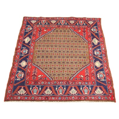 3'3 x 4'3 Hand-Knotted Persian Malayer Rug, 1940s
