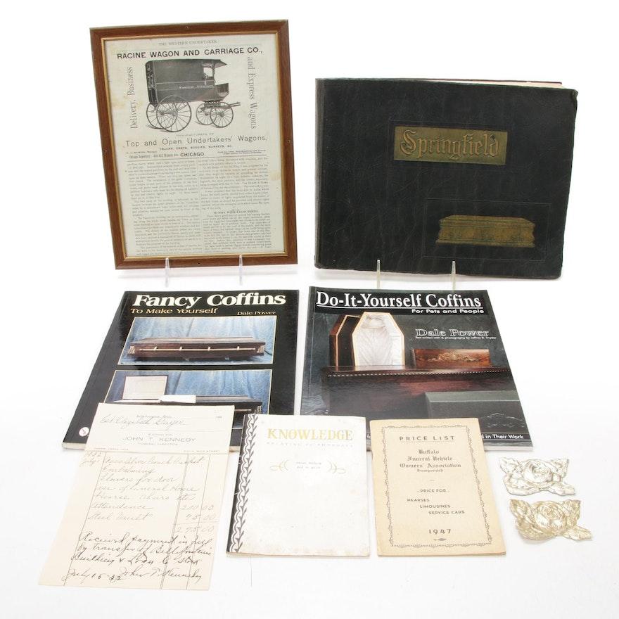 Springfield Casket Co Catalog, DIY Coffin Books, and Funeral Ephemera