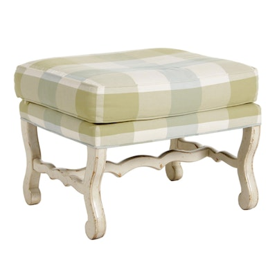 Highland House French Provincial Upholstered Ottoman