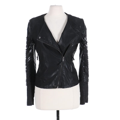 """Blank NYC """"Kiss and Tell"""" Leather Biker-Style Jacket, Contemporary"""