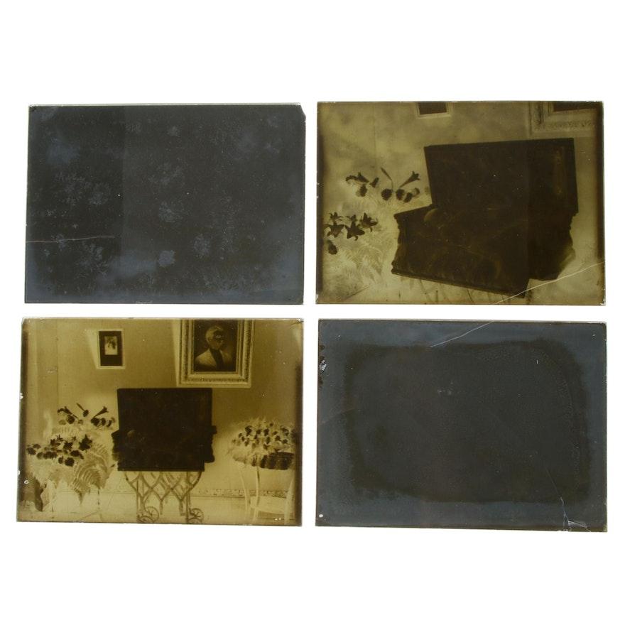 Post Mortem Glass Plate Photography Negatives
