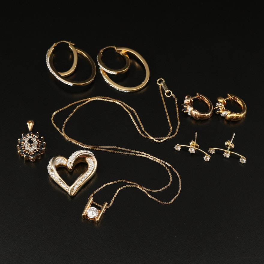 Sterling Silver Jewelry Featuring Earrings, Pendants and Necklaces