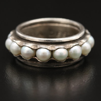 Silpada Sterling Pearl Eternity Band