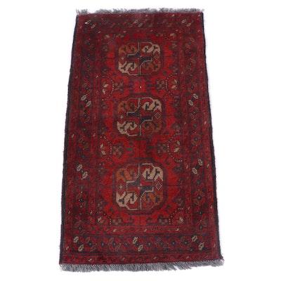 1'9 x 3'5 Hand-Knotted Turkmen Tekke Bokhara Wool Rug